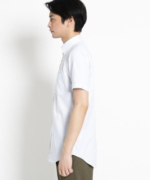 THE SHOP TK(ザ ショップ ティーケー)/【抗菌・防臭】ポリジン市松ドビー半袖シャツ/20190161686501_img02