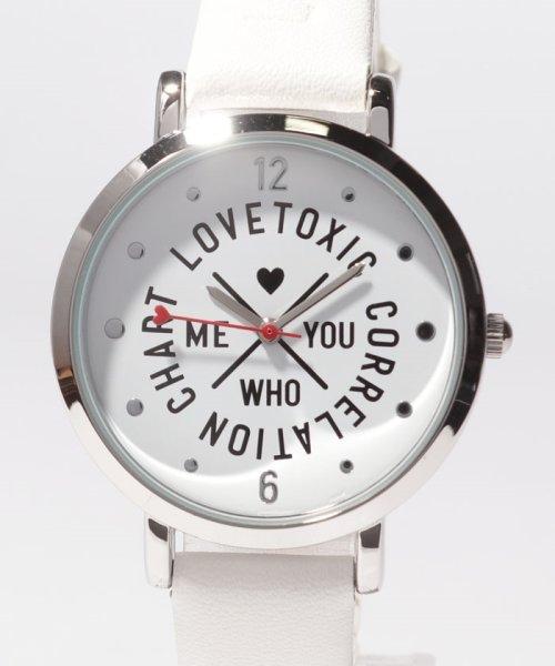 Lovetoxic(ラブトキシック)/ロゴ型押し腕時計/8391506_img01