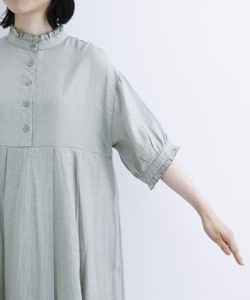 merlot(メルロー)/【plus】レーヨン混バルーンスリーブフリル襟ワンピース/00010012-878210007572_img08