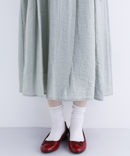 merlot(メルロー)/【plus】レーヨン混バルーンスリーブフリル襟ワンピース/00010012-878210007572_img09