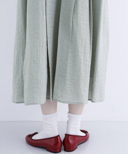 merlot(メルロー)/【plus】レーヨン混バルーンスリーブフリル襟ワンピース/00010012-878210007572_img11