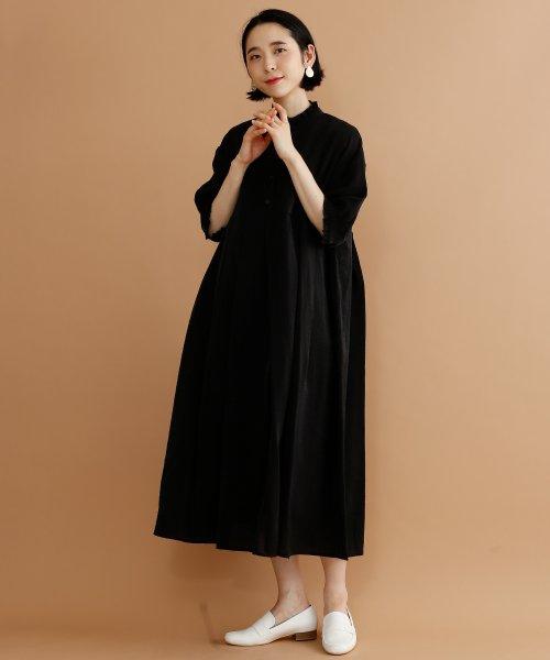 merlot(メルロー)/【plus】レーヨン混バルーンスリーブフリル襟ワンピース/00010012-878210007572_img13