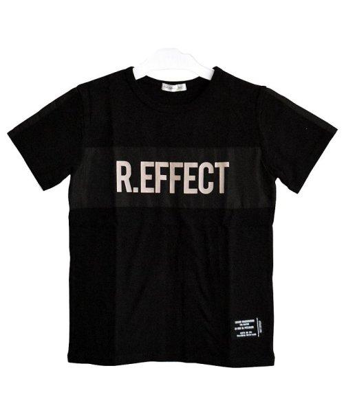 RAT EFFECT(ラット エフェクト)/リフレクタープリントナイロン切替Tシャツ/RTS92407_img01