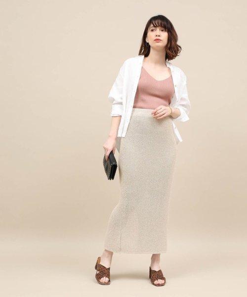 ROPE' mademoiselle(ロペ マドモアゼル)/和紙混ロングニットタイトスカート/GWC29050_img01