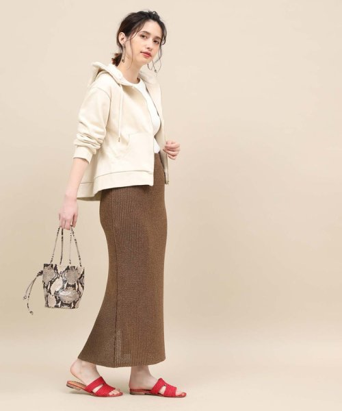 ROPE' mademoiselle(ロペ マドモアゼル)/和紙混ロングニットタイトスカート/GWC29050_img02