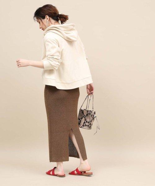 ROPE' mademoiselle(ロペ マドモアゼル)/和紙混ロングニットタイトスカート/GWC29050_img03