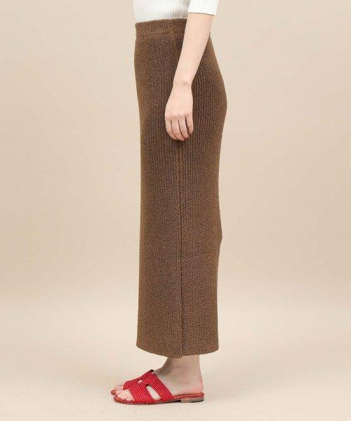 ROPE' mademoiselle(ロペ マドモアゼル)/和紙混ロングニットタイトスカート/GWC29050_img04
