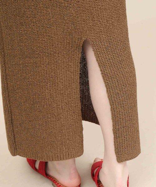 ROPE' mademoiselle(ロペ マドモアゼル)/和紙混ロングニットタイトスカート/GWC29050_img09