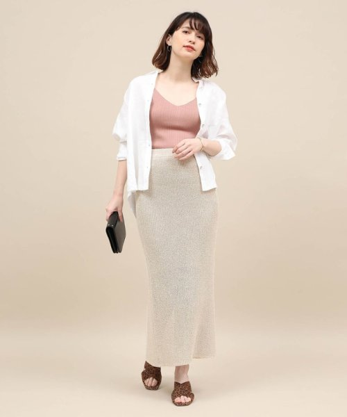 ROPE' mademoiselle(ロペ マドモアゼル)/和紙混ロングニットタイトスカート/GWC29050_img11