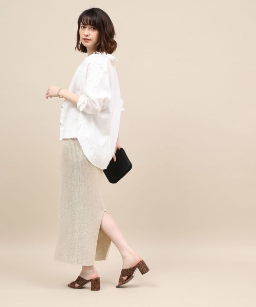 ROPE' mademoiselle(ロペ マドモアゼル)/和紙混ロングニットタイトスカート/GWC29050_img12