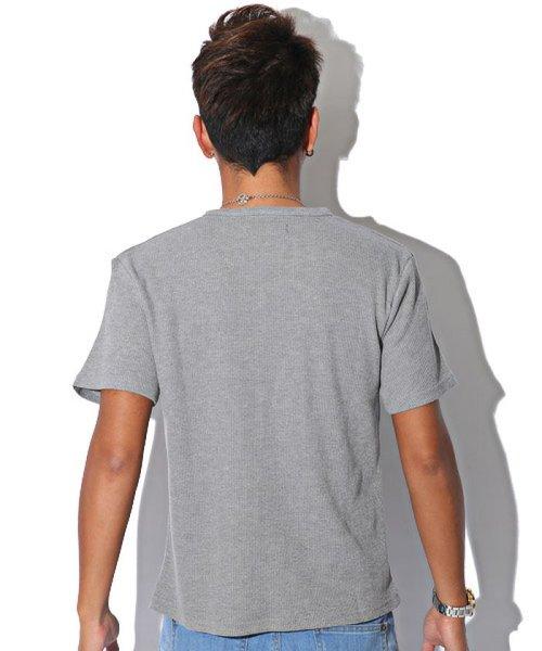 LUXSTYLE(ラグスタイル)/ミニワッフル素材ヘンリーネックTシャツ/pm-5955_img01