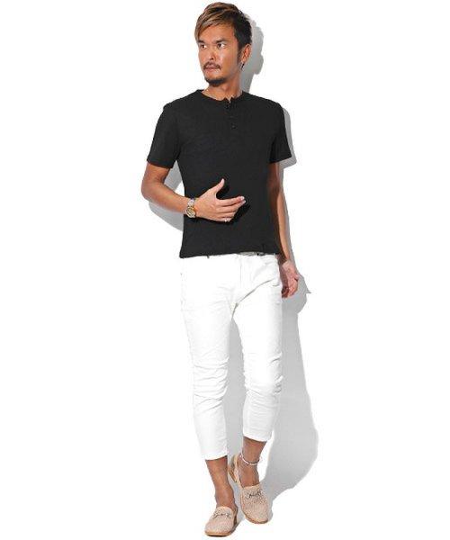 LUXSTYLE(ラグスタイル)/ミニワッフル素材ヘンリーネックTシャツ/pm-5955_img03