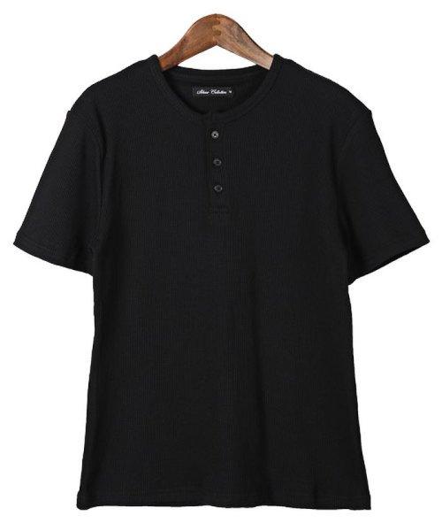 LUXSTYLE(ラグスタイル)/ミニワッフル素材ヘンリーネックTシャツ/pm-5955_img08