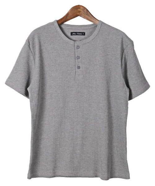 LUXSTYLE(ラグスタイル)/ミニワッフル素材ヘンリーネックTシャツ/pm-5955_img09