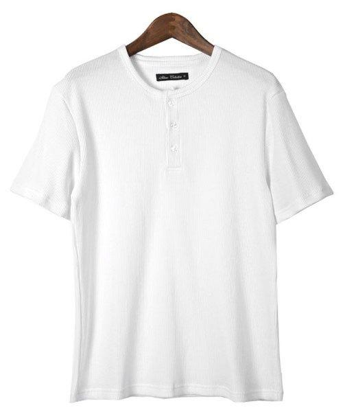 LUXSTYLE(ラグスタイル)/ミニワッフル素材ヘンリーネックTシャツ/pm-5955_img10