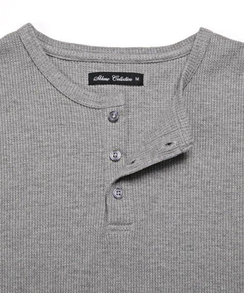 LUXSTYLE(ラグスタイル)/ミニワッフル素材ヘンリーネックTシャツ/pm-5955_img12
