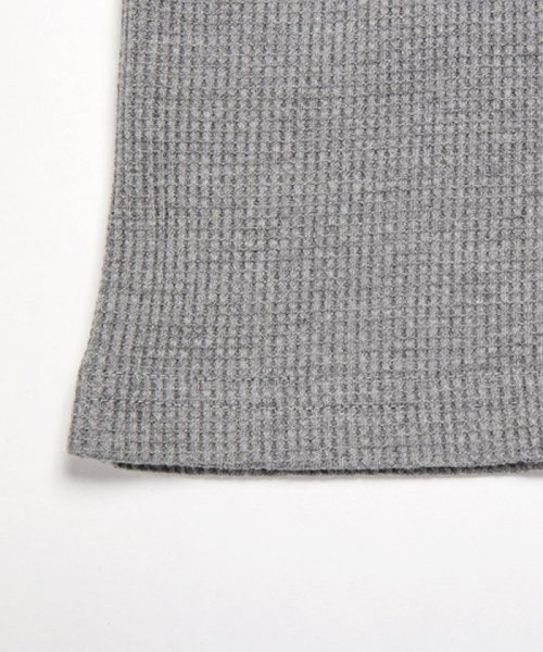LUXSTYLE(ラグスタイル)/ミニワッフル素材ヘンリーネックTシャツ/pm-5955_img13