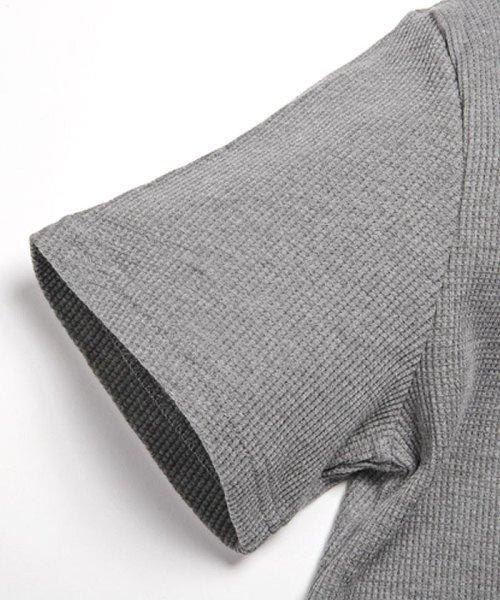 LUXSTYLE(ラグスタイル)/ミニワッフル素材ヘンリーネックTシャツ/pm-5955_img14