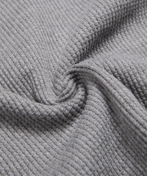 LUXSTYLE(ラグスタイル)/ミニワッフル素材ヘンリーネックTシャツ/pm-5955_img15