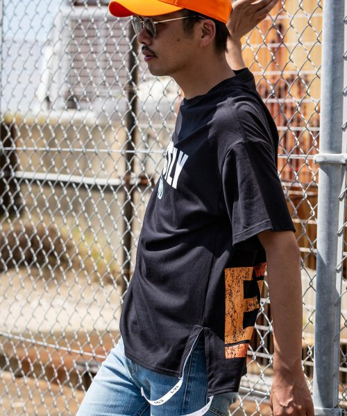 163(163)/163(イチロクサン) EPMD 裾テープ付ビッグTシャツ/bat-914_img01