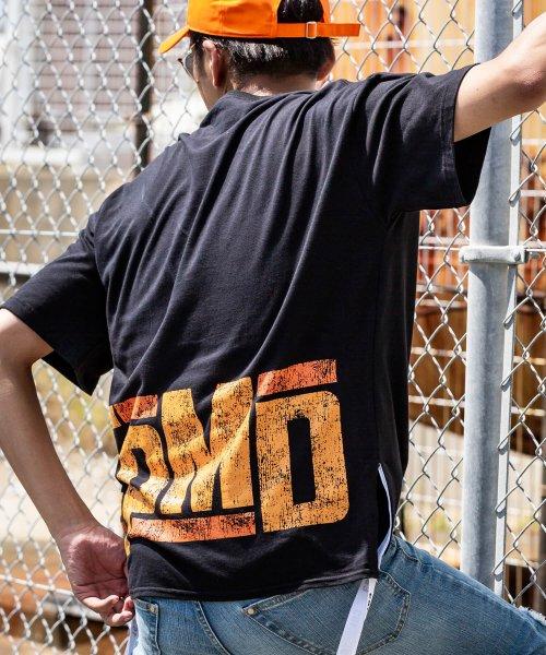 163(163)/163(イチロクサン) EPMD 裾テープ付ビッグTシャツ/bat-914_img02