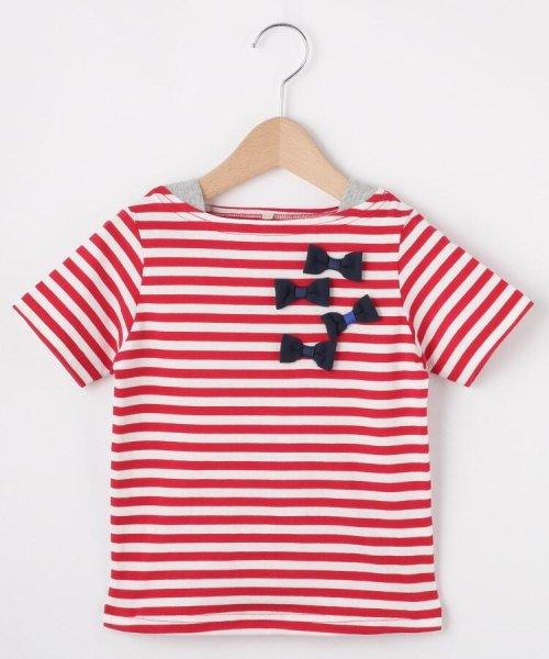 HusHush(Kids)(ハッシュアッシュ(キッズ))/【90-150cm】立体リボンフェイクレイヤードTシャツ/20190151216036_img01