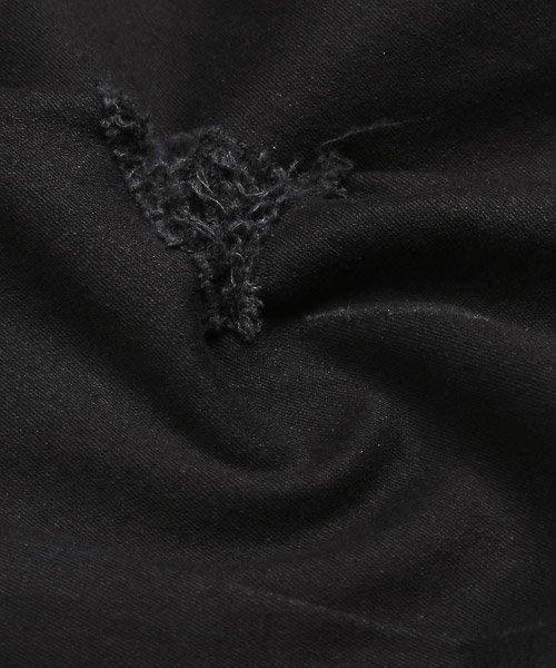 LUXSTYLE(ラグスタイル)/ブラックデニムダメージパンツ/デニムパンツ メンズ スキニー ブラック ダメージ ストレッチ/pm-8102_img15