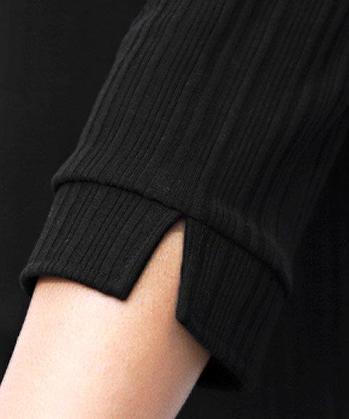 LUXSTYLE(ラグスタイル)/ランダムテレコリブ7分袖イタリアンカラーポロシャツ/pm-8123_img11