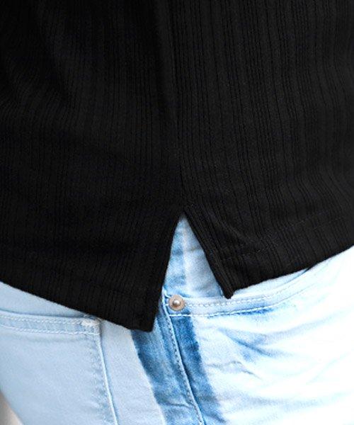 LUXSTYLE(ラグスタイル)/ランダムテレコリブ7分袖イタリアンカラーポロシャツ/pm-8123_img12