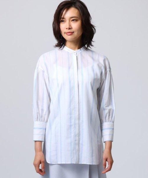 UNTITLED(アンタイトル)/[L]袖ギャザーバンドカラーシャツ/20190115386963_img01