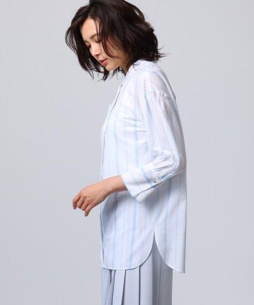 UNTITLED(アンタイトル)/[L]袖ギャザーバンドカラーシャツ/20190115386963_img02