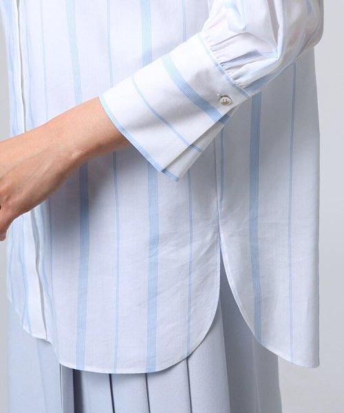 UNTITLED(アンタイトル)/[L]袖ギャザーバンドカラーシャツ/20190115386963_img05