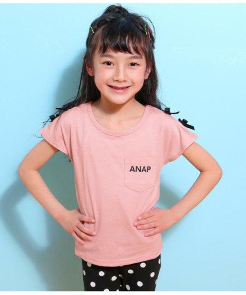 ANAP KIDS(アナップキッズ)/肩リボンポケット付トップス/0437300009_img02