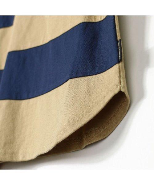 branshes(ブランシェス)/ワイドボーダー切替半袖Tシャツ(90~150cm)/119206393_img03