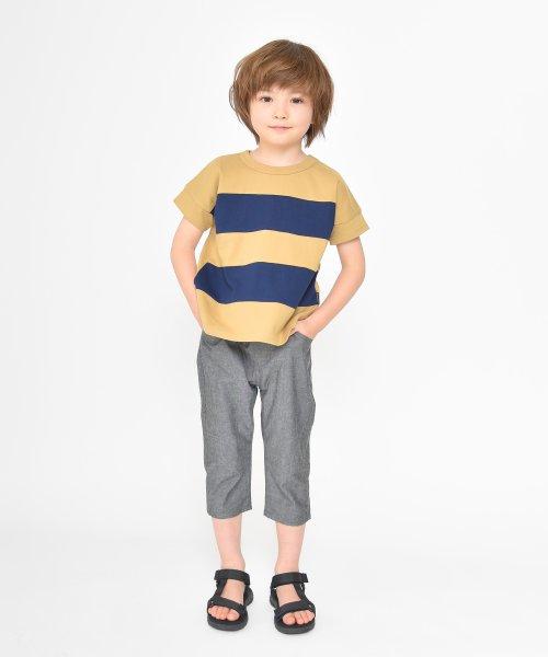 branshes(ブランシェス)/ワイドボーダー切替半袖Tシャツ(90~150cm)/119206393_img04