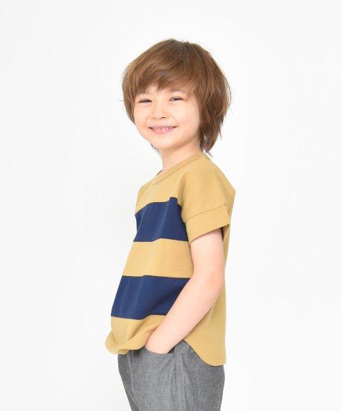 branshes(ブランシェス)/ワイドボーダー切替半袖Tシャツ(90~150cm)/119206393_img05