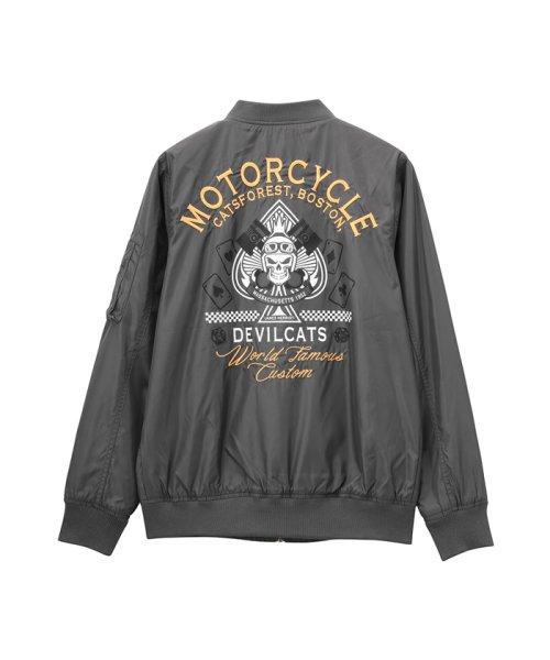 MAC HOUSE(men)(マックハウス(メンズ))/Devilcats MOTORCYCLE MA-1 32194301/01111000744_img06