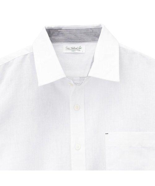 MAC HOUSE(men)(マックハウス(メンズ))/Free Nature Linen レギュラーシャツ 391102MH/01211001124_img01