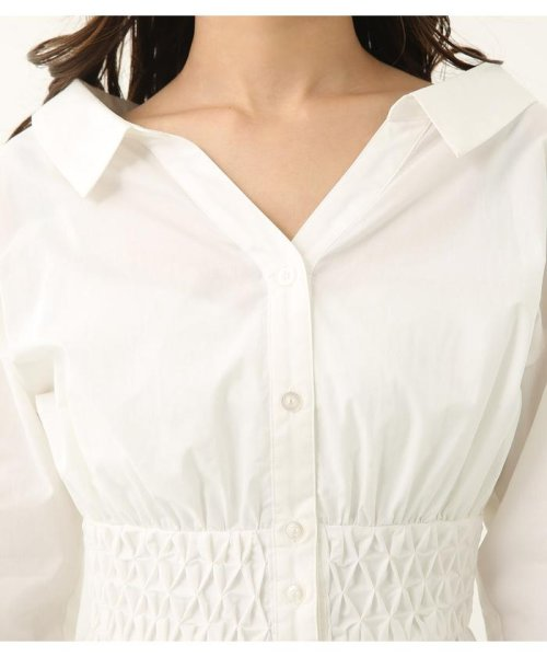 rienda(リエンダ)/スモッキングペプラムシャツトップス/110CS630-1250_img04