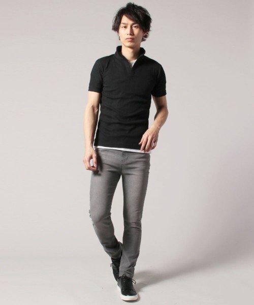THE CASUAL(ザ カジュアル)/(スプ) SPU ランダムテレコ襟ワイヤースキッパー半袖ポロシャツ/buy190197_img05