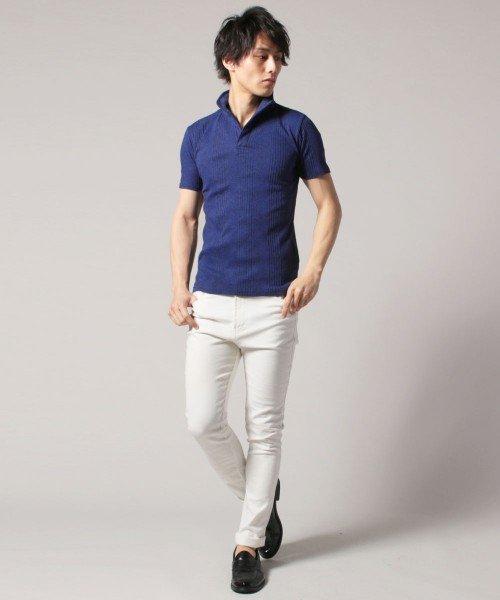 THE CASUAL(ザ カジュアル)/(スプ) SPU ランダムテレコ襟ワイヤースキッパー半袖ポロシャツ/buy190197_img07
