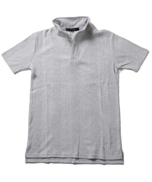 THE CASUAL(ザ カジュアル)/(スプ) SPU ランダムテレコ襟ワイヤースキッパー半袖ポロシャツ/buy190197_img08