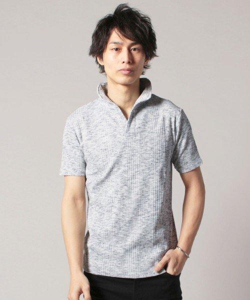 THE CASUAL(ザ カジュアル)/(スプ) SPU ランダムテレコ襟ワイヤースキッパー半袖ポロシャツ/buy190197_img14