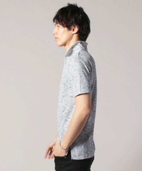 THE CASUAL(ザ カジュアル)/(スプ) SPU ランダムテレコ襟ワイヤースキッパー半袖ポロシャツ/buy190197_img15