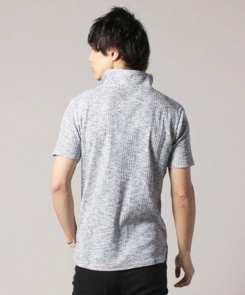 THE CASUAL(ザ カジュアル)/(スプ) SPU ランダムテレコ襟ワイヤースキッパー半袖ポロシャツ/buy190197_img16