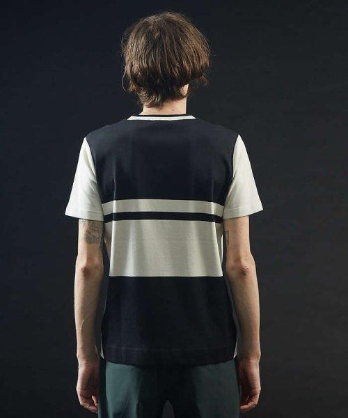 5351POURLESHOMMES(5351POURLESHOMMES)/シルケットコットンVネックTシャツ/02380041002_img18