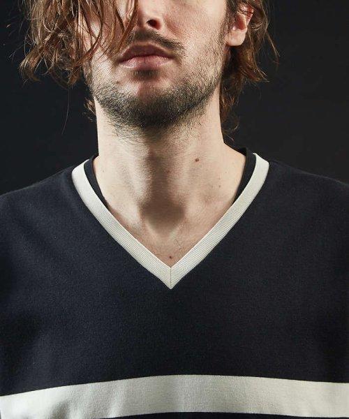 5351POURLESHOMMES(5351POURLESHOMMES)/シルケットコットンVネックTシャツ/02380041002_img19