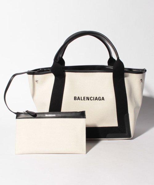 BALENCIAGA(バレンシアガ)/【BALENCIAGA】トートバッグ/NAVY CABAS S【NATUREL/NOIR】/339933AQ38N1081_img05