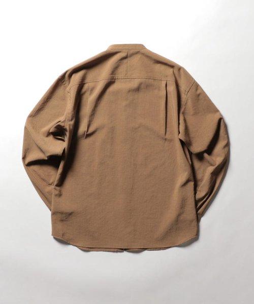 NOLLEY'S goodman(ノーリーズグッドマン)/バンドカラーZIP UPシャツブルゾン/9-0086-1-71-040_img01