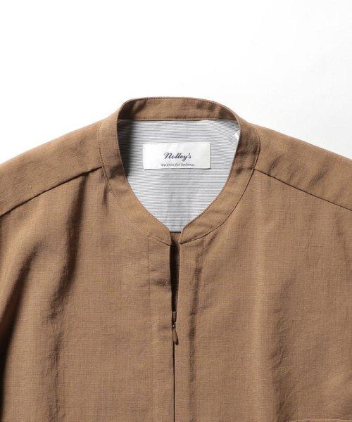 NOLLEY'S goodman(ノーリーズグッドマン)/バンドカラーZIP UPシャツブルゾン/9-0086-1-71-040_img02